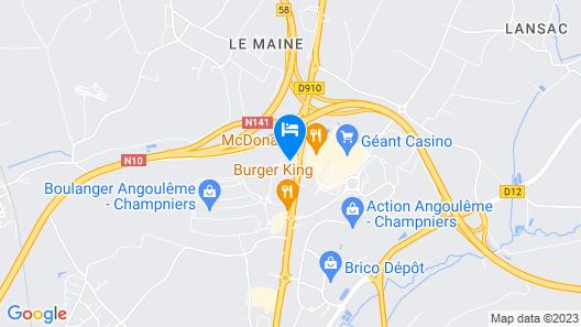ibis budget Angoulême Nord Map