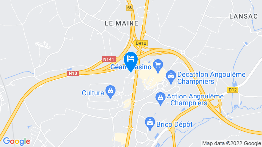 ibis Styles Angouleme Nord Map