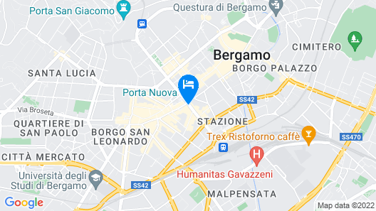 Best Western Hotel Cappello D'Oro Map