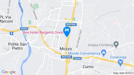 Bes Hotel Bergamo West Map