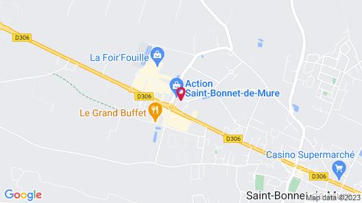 Hotel Kyriad Lyon Est - Saint Bonnet de Mure Map