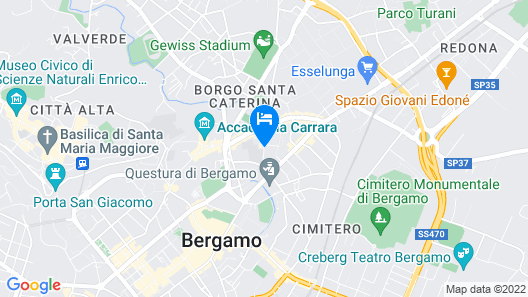 Hotel Santa Caterina Map