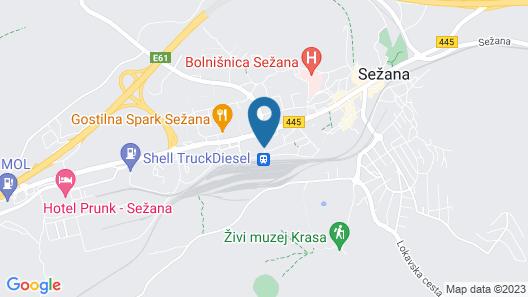 Hotel Tabor Map