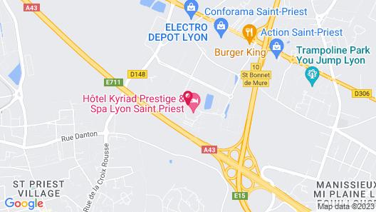 Kyriad Prestige Lyon Est - Saint Priest Eurexpo Hotel and Spa Map