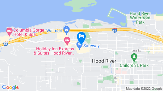 Sunset Motel Hood River Map