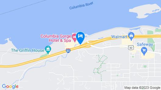 Columbia Cliff Villas Hotel Map