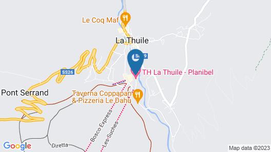 TH La Thuile - Planibel Hotel Map