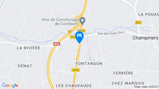 Hôtel Kyriad - Angoulême Nord Champniers Map