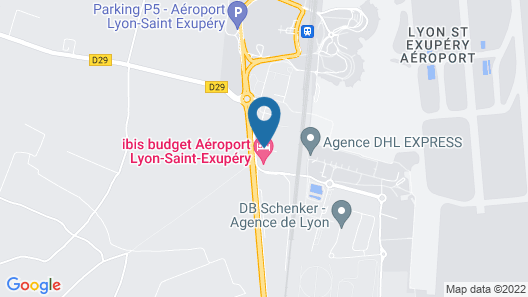 Comfort Hotel Aeroport Lyon St Exupery Map