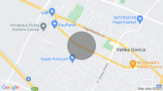 2 Bedroom Accommodation in Velika Gorica Map