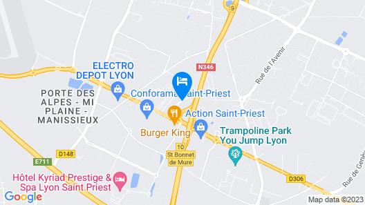 Première Classe Lyon Est - Saint-Priest Eurexpo Map