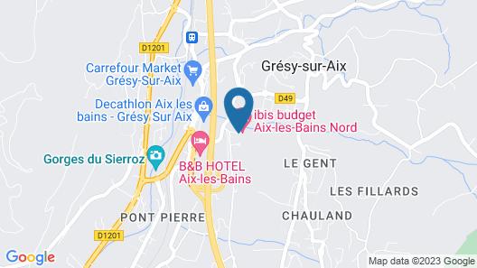 ibis budget Aix Les Bains Nord Map