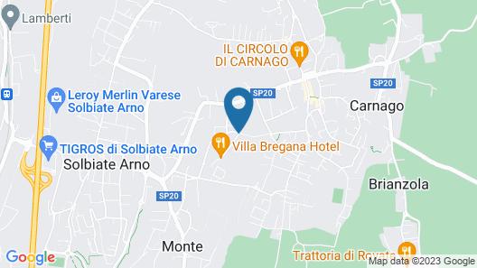 Villa Bregana Map