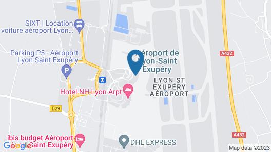 Moxy Lyon Airport Map