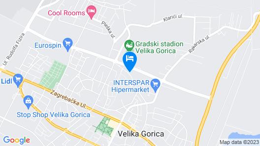 Rooms Pleška Zagreb Airport Map