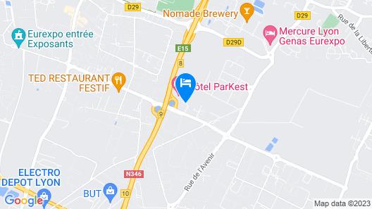 Hôtel ParKest Map