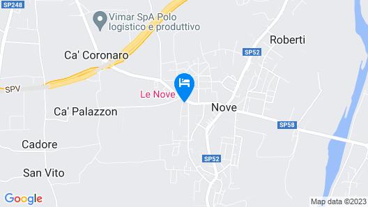 Le Nove Hotel Map