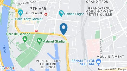 ibis budget Lyon Gerland Map