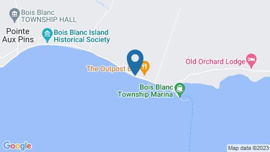 Bois Blanc #1 Beach Rental on Lake Huron! Fire Pit, Cenrtral A/c, Free Wifi Map