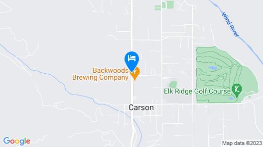 Carson Ridge Luxury Cabins Map