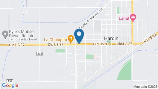 Western Motel Hardin Map