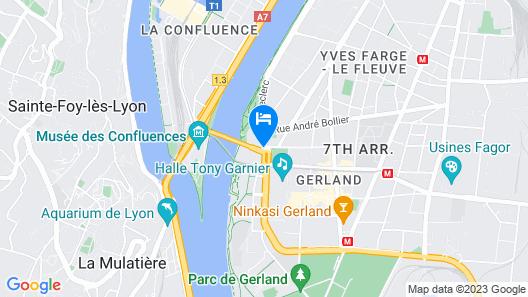 Novotel Lyon Gerland Musée des Confluences Map