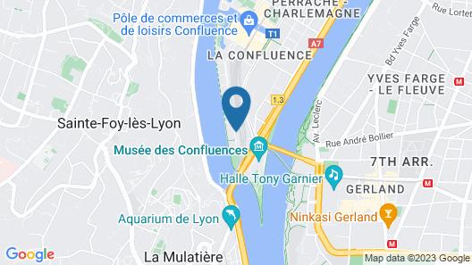MOB Hotel Lyon Confluence Map