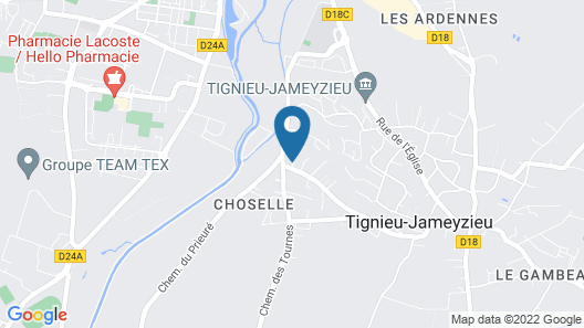 Bed & Breakfast Les Tignoliers Map