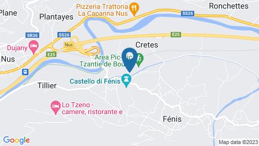 Comtes de Challant Map