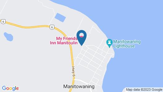 My Friends Inn Manitoulin Map