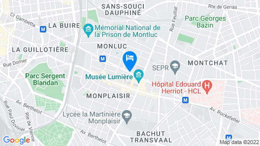 Lagrange Apart'HOTEL Lyon Lumière Map