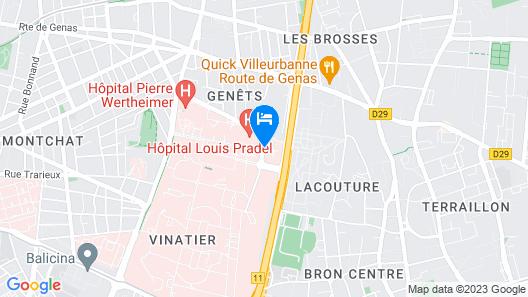 ibis Lyon Est Bron Map