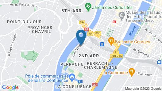 Studio Péniche Centre Lyon Insolite Map