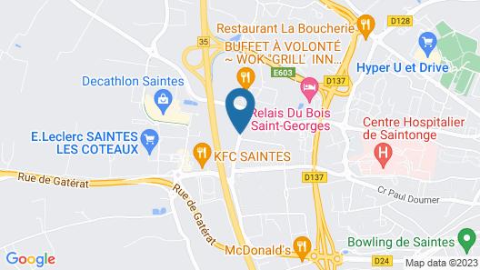 Kyriad Direct Saintes Map