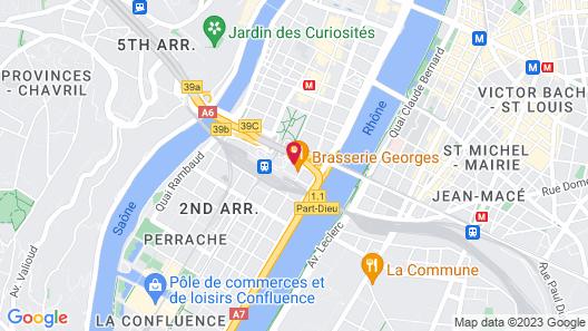 Greet Hotel  Lyon Confluence Map