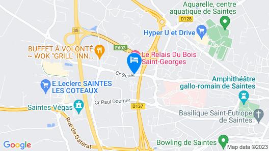 Le Relais Du Bois Saint-Georges Map