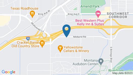 Motel 6 Billings, MT - South Map