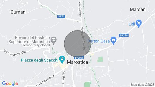 Bright Apartment in Marostica Map