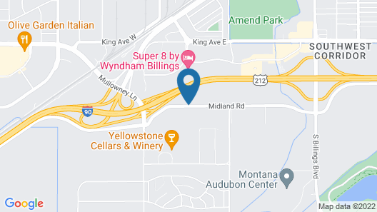 Motel 6 Billings, MT - North Map