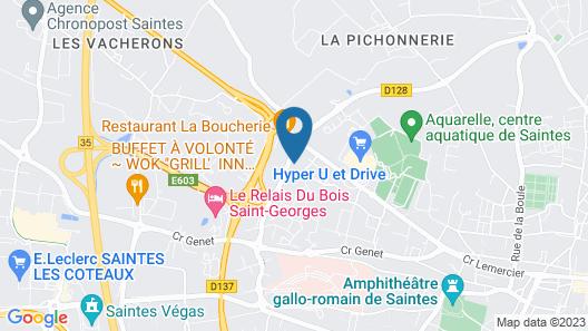 The Originals Access, Hôtel Recouvrance, Saintes Ouest (P'tit Dej-Hotel) Map