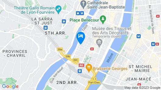 Hotel Vaubecour Map