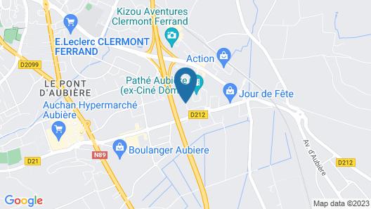 B&B Hotel Clermont Ferrand Sud Aubière Map