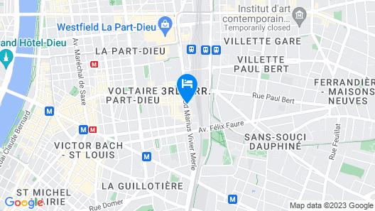 Residhotel Lyon Part Dieu Map
