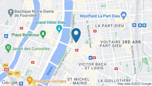 Campanile Lyon Centre-Berges du Rhône Map