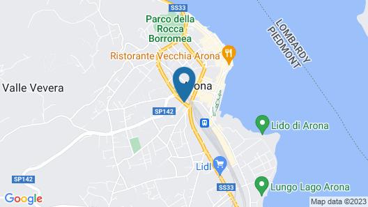 Albergo Arona Centro Map