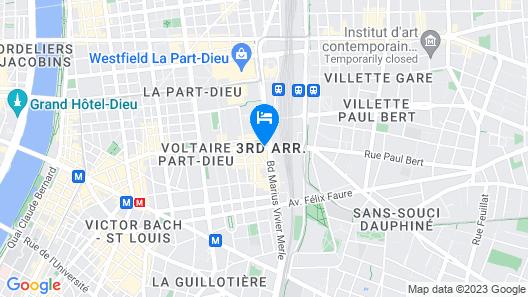ibis Lyon Gare la Part Dieu Map