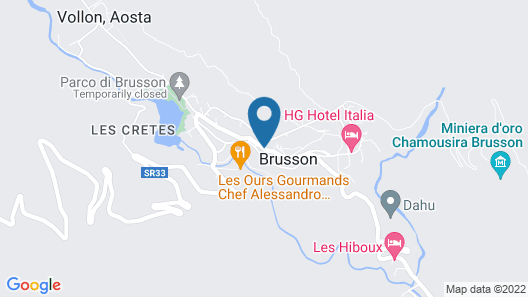 Residence Aquila - Two-room apartment for 5 people in Brusson Estat3 Grp Map