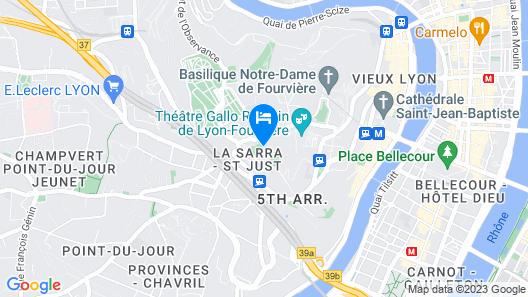 Fourvière Hôtel Lyon Map
