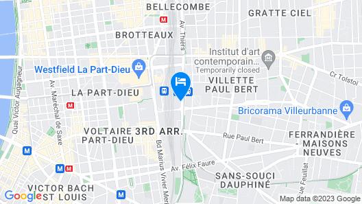 Hôtel Mercure Lyon Centre - Gare Part Dieu Map