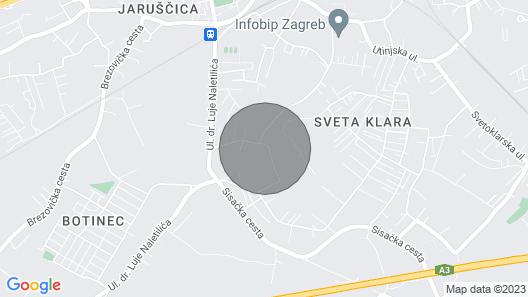 1 Bedroom Accommodation in Novi Zagreb Map